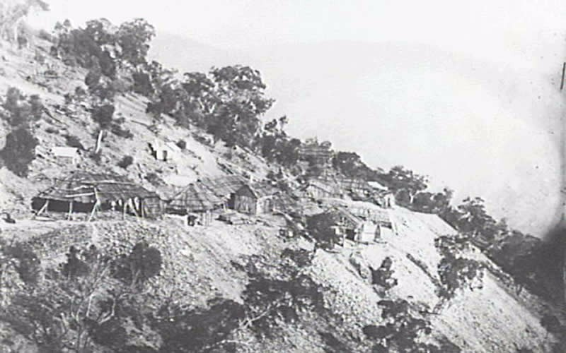 Slider Image 6_Gold mines Hawkins Hill, Turon Valley in background, Hill End c 1872