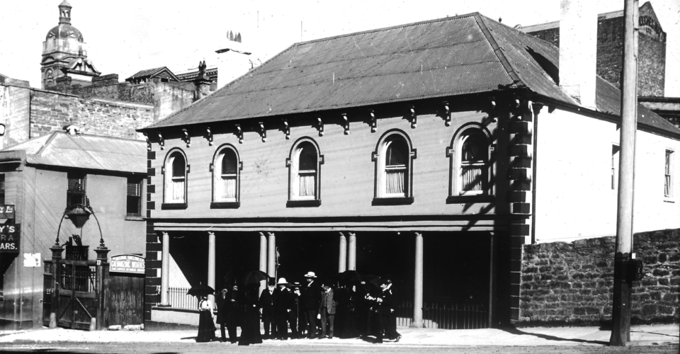 Charlotte Place, The Rocks - Australian Historical Society Excursion, 5th September 1903 [RAHS Photograph Collection]
