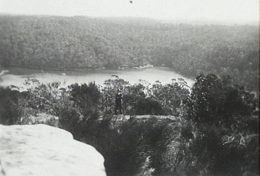 Sailors Bay from the Knoll, Byora Crescent Northbridge NSW - looking towards Castlecrag, 1925, Photographer Percy Lowe [RAHS Photograph Collection]