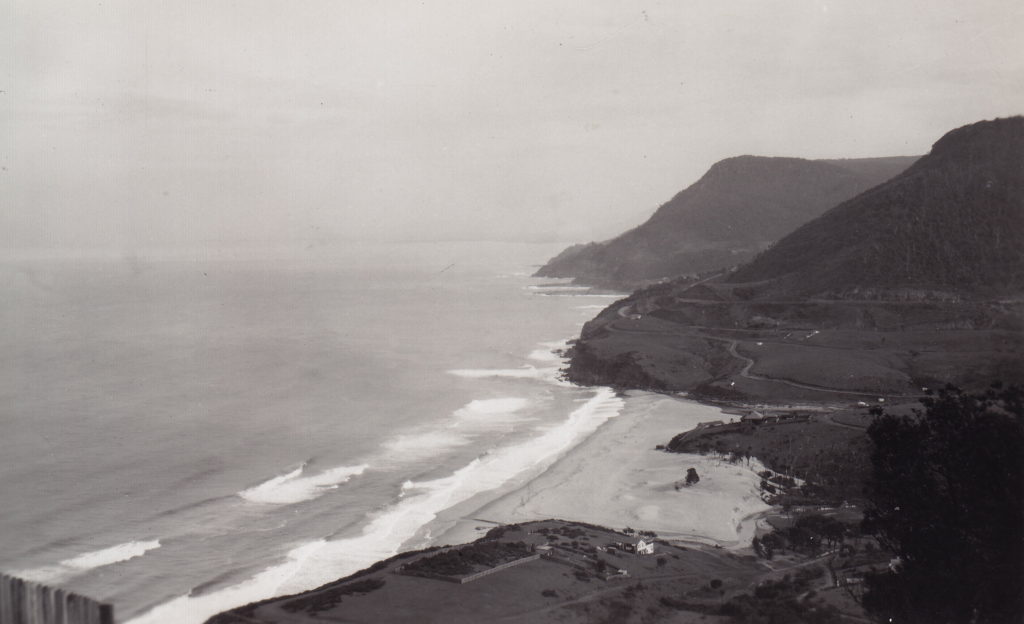 Stanwell Park Wollongong 1931 maybe from Bald Head  [RAHS Photograph Collection]