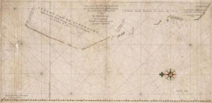 """This is an image of Hessel Gerritszoon's 1627 map of the north west coast of Australia. The title is """"Caert van't Landt van d'Eendracht"""" which translates as """"Chart of the Land of Eendracht"""". It is so named because that part of the coast was first and foremost charted by Dirk Hartog in the Eendracht in 1616. This work is in the Public Domain [Scan of the copy belonging to the National Library of Australia]"""