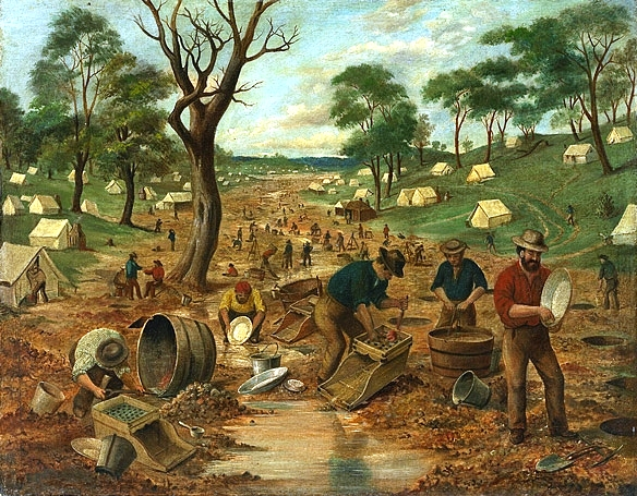 the eureka stockade Eureka stockade 1854: rebellion of goldminers at the eureka stockade, ballarat, victoria on 30 november 1854, miners from the victorian town of ballarat, disgruntled with the way the colonial government had been administering the goldfields, swore allegiance to the southern cross flag at bakery hill and built a stockade at the nearby eureka.