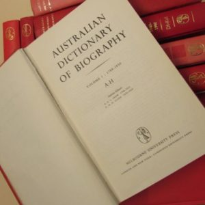 australian dictionary biography