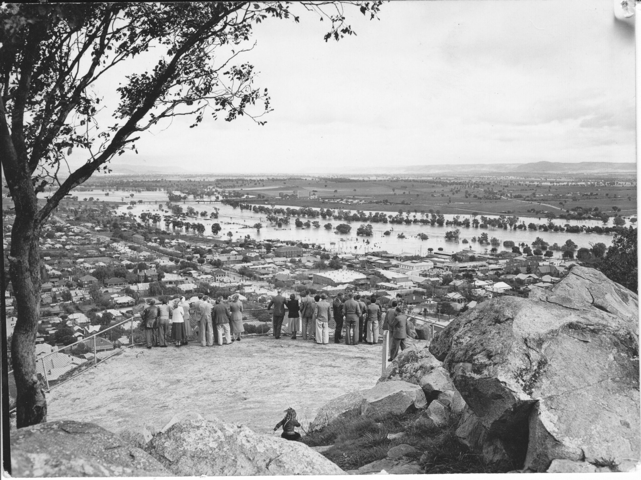 View from Bellevue Hill, Cowra 1925