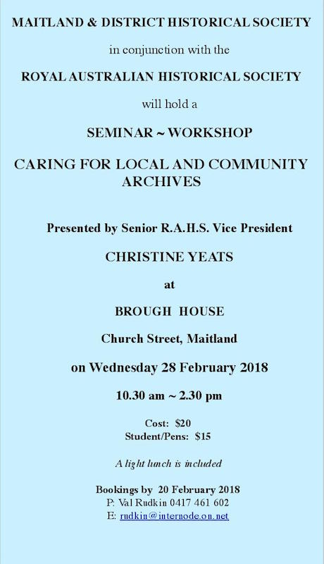 'Caring for Local and Community Archives' Seminar