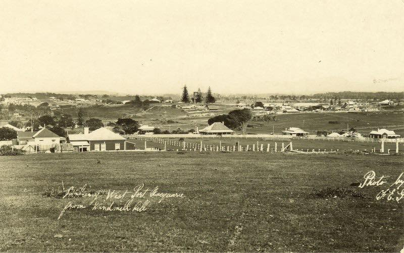 Looking towards West Port Macquarie from Windmill Hill, ca. 1931