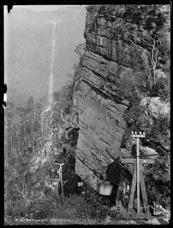 Beichart Ropeway to Ruined Castle Shale Mine, 1881. [Image courtesy of M. King]