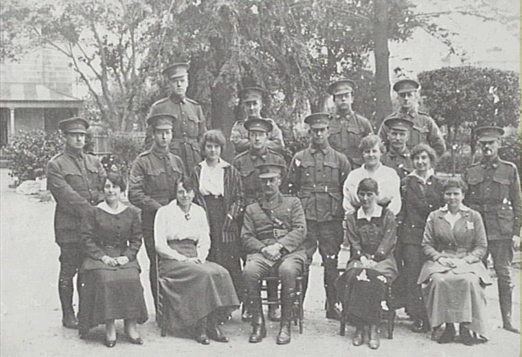 Soldiers at Randwick Military Hospital 1914–18 [Image courtesy Randwick Library, M00030]