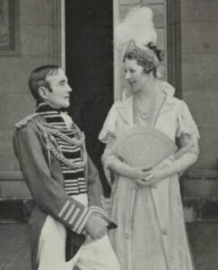 Sir Philip and Lady Game dressed as Major General and Mrs Macquarie for the Governor's Ball, 1934