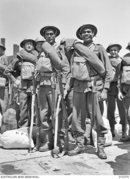 WWII Indigenous servicemen Pte George Leonard and Pte Harold West