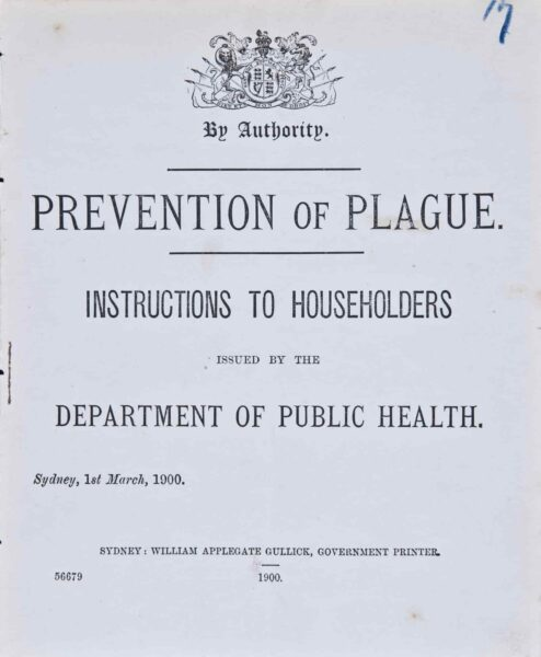 Prevention of Plague pamphlet